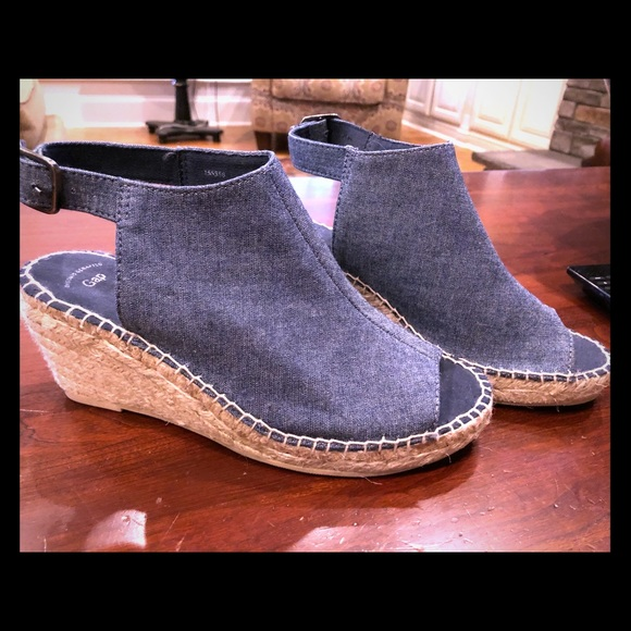 751242210f3 GAP Shoes - GAP Denim Espadrille Wedge Sandals